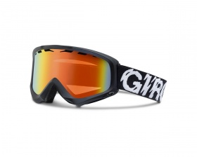 Маска GIRO STATION Black Static Persimmon Blaze 50-60