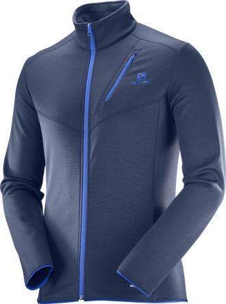 Свитер Salomon DISCOVERY FZ M Dress Blue фото 1